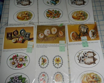 6 Vintage Packages of Carousel Craft Decals -