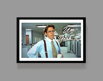 Office Space Movie Poster - Bill Lumbergh Poster Print - Mike Judge Cult Classic Initech Digital Oil Painting
