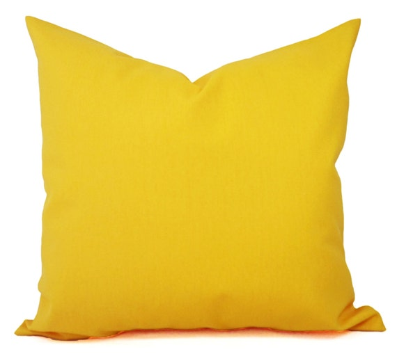 Two Solid Yellow Throw Pillow Covers Yellow Couch Pillow