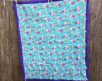 Hello Kitty Baby Tie Quilt