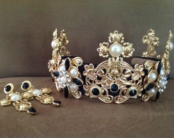 Black Pearl Baroque Crown