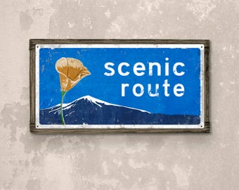 California Scenic Route FRAMED Metal Sign FREE SHIPPING