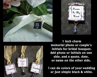 Memorial Photo Charm Memory Keepsake For Wedding Bouquet