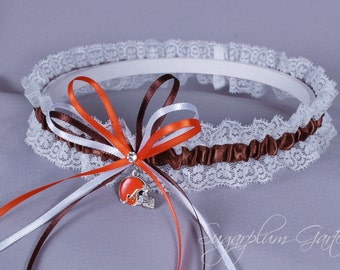 Cleveland Browns Lace Wedding Garter