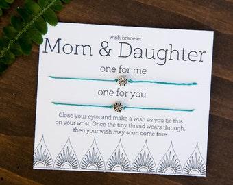 Mom Gift for mom, Mom daugther gift, Friendship Bracelets, set of two bracelets, Mother Daughter Bracelet Set, Best Mom, Mother Daughter