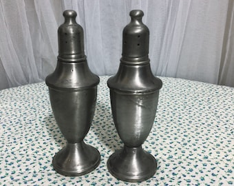 1940's pewter Salt and Pepper Shakers