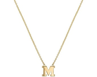 MOTHERS DAY SALE 14k gold initial necklace. 14k gold letter necklace