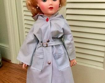 "Vintage doll raincoat, Miss Revlon, 1950's 20"" doll clothes, vintage doll clothes"