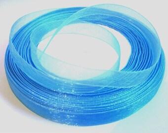 10 m Blue 10mm organza Ribbon