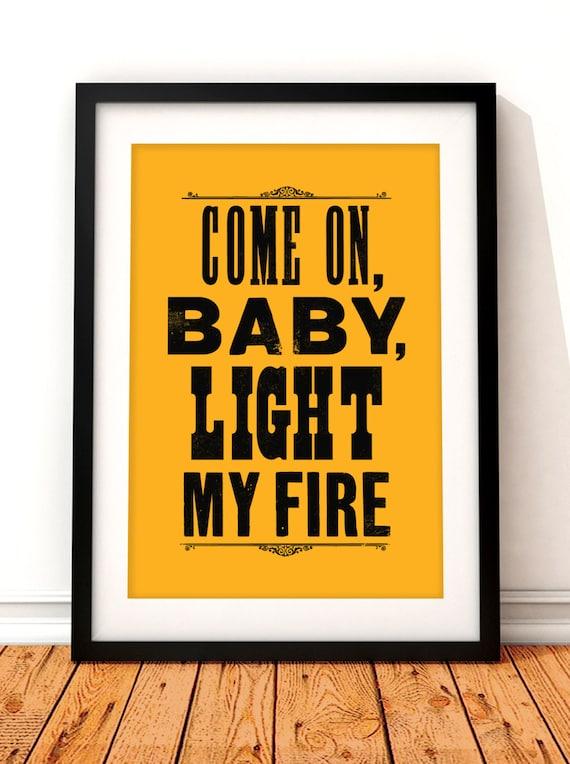 Like this item?  sc 1 st  Etsy & The Doors song lyric art The Doors art print music inspired