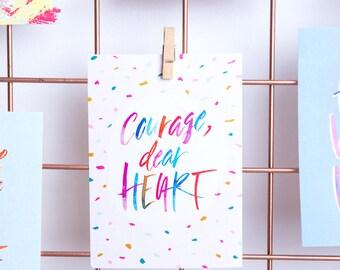 Courage, Dear Heart / Postcard