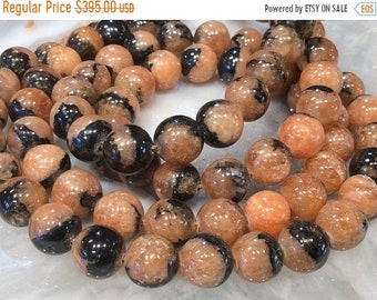 50% Mega Sale 10mm Lithiophilite Round Gemstone Beads Rare!!!