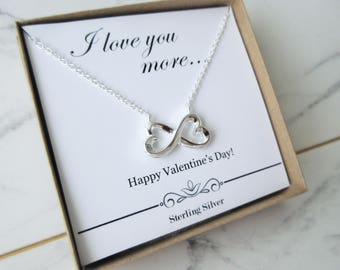 Infinity Heart Pendant, Infinity Jewelry, Valentines Day, Gift for Her, Infinite Love, Infinity Necklace Sterling silver necklace, Present