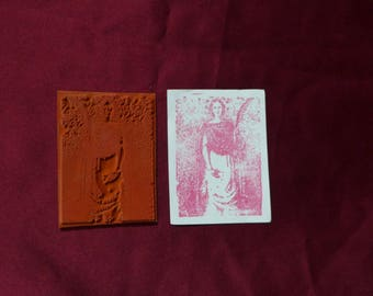 Roman Lady Liberty/ Feminine / Quill and Axe / Unmounted Rubber Stamp
