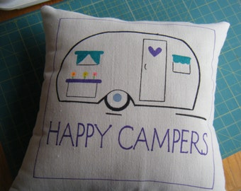 Pillow  Cover - Happy Camper