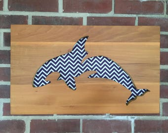 Orca Silhouette-Reclaimed Wood