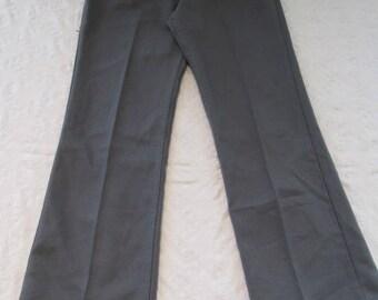 Leisure Pants - Vintage - Wrangler Brand - Gray - Men's Size 34 x 30 - Polyester