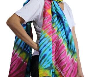 Chic Women's Fashion Long Warm Scarves Soft Wrap Scarf Tie Dye Cotton Shawl /Scarf /Wrap Accessories (28)