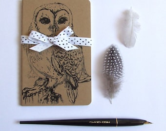 Barn Owl Notebook Gocco Printed Pocket Moleskine Cahier Notebook
