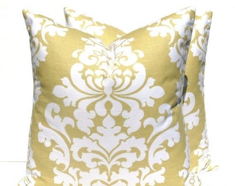 15% Off Sale Decorative Pillow Cover Gold Pillow Yellow Euro Cover ONE 24x24 Pillow Home Decor Gold Cushion Covers Yellow Pillow  Gold White
