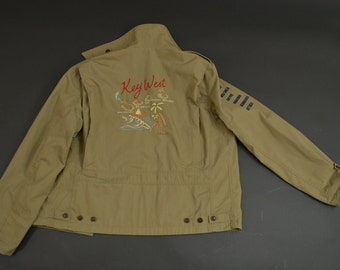 Map jacket etsy ralph lauren embroidered vintage key west map jacket gumiabroncs Images