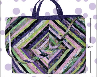Large Quilters Tote Pattern For All Your Quilting Supplies by Cool Cat Creations