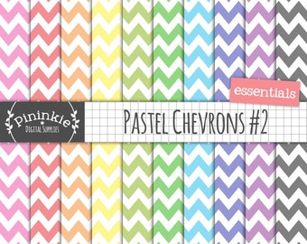 Digital Chevron Paper, Pastel Digital Paper, Digital Background, Commercial Licence, Instant Download