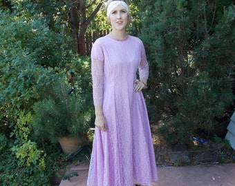 Vintage 1950's Lavender Lace Bridesmaid Dress Orchid Pink Retro Flapper style 40's / 50's  1 of 4 Gowns 'Discount' with purchase of 2 or 4