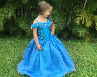 Cinderella Dress / Disney Princess Dress Inspired Costume Ball Gown - Live - Kids, Girls, Toddler, Child, baby