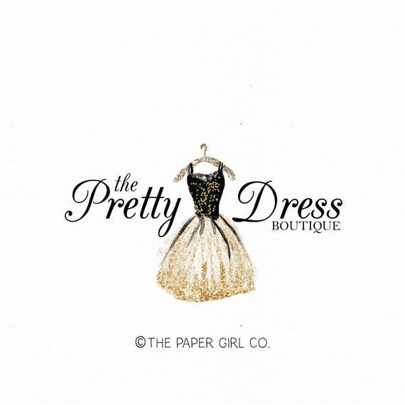Party Dress Logo Dressmaker Logo Couture Dress Logo Fancy