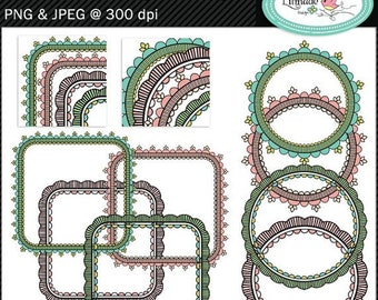 50%OFF Lace frames clipart, hand drawn frames, hand drawn photo frames, frame clipart, digital frame, P351