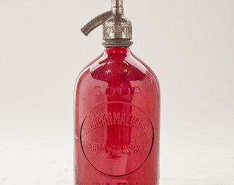 Red Vintage Seltzer Bottle