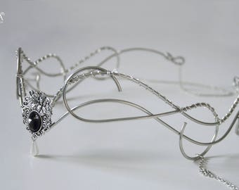 elvish tiara • wedding accesories • elvish headpiece . Bridal • elven tiara