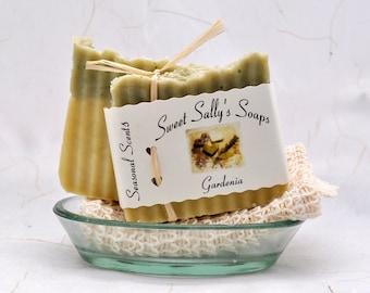 Gardenia Organic Soap, Vegan Hot Process Handmade Soap