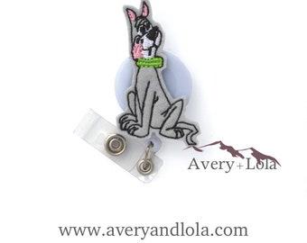 Space Dog Badge Reel, Dog Badge Reel, Astro Badge Reel, Dog ID Holder, ID Badge Holder, Teacher Gift, Nurse Gift, Vet Gift