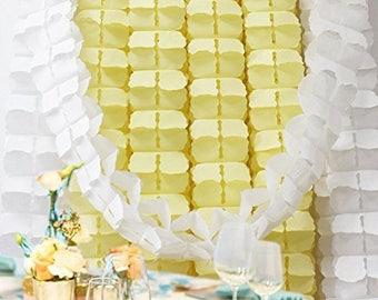 Yellow Clover Style Paper Garland