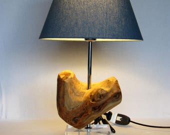 Table Lamp in Juniper wood