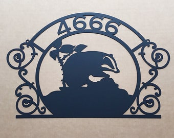 custom badger sign with text N13