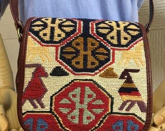 30% OFF FREE Shipping, Soumak kilim bag, Boho Chic bag, crossbody bag, Shoulder bag, Smack Killim Bag