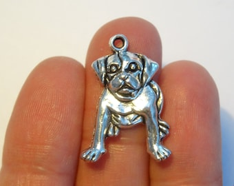 7 Dog Charms Antique Silver 26 x 18mm - DOG13