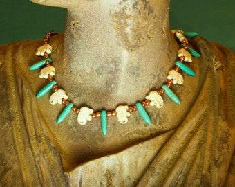 elephant beaded necklace