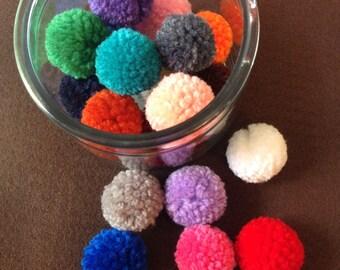 Wool pompoms (10 pack)/yarn pom poms