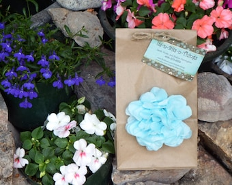 Gift Bag with Tissue Flower and Jute