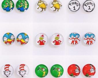 The 'Dr. Seuss' Glass Earring Studs
