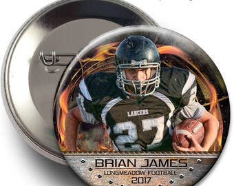 "SPORTS BUTTONS - Ring Of Fire - (3) Digital Photoshop Templates in 3"", 3.5"" & 4"" sizes for Sports Photographers."