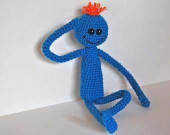 Mr Meeseeks amigurumi toy Rick and Morty MR Meeseeks crochet Meeseeks plush toy