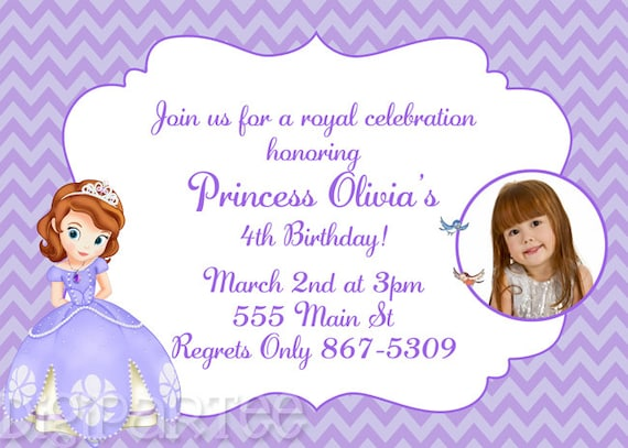 Sofia the first invitation bookmarktalkfo Image collections