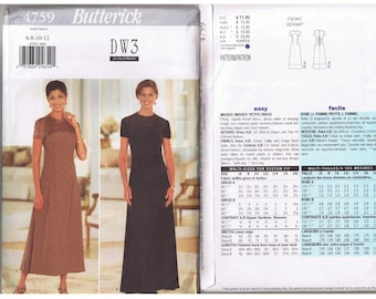 DW3  Butterick Dress Pattern  4759
