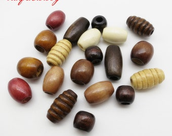 20Pcs/Lot mix color wooden set for hair braid dread dreadlock Beads cuffs clips