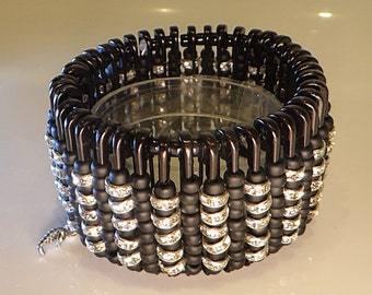 Sparkling Steampunk Beaded Bracelet